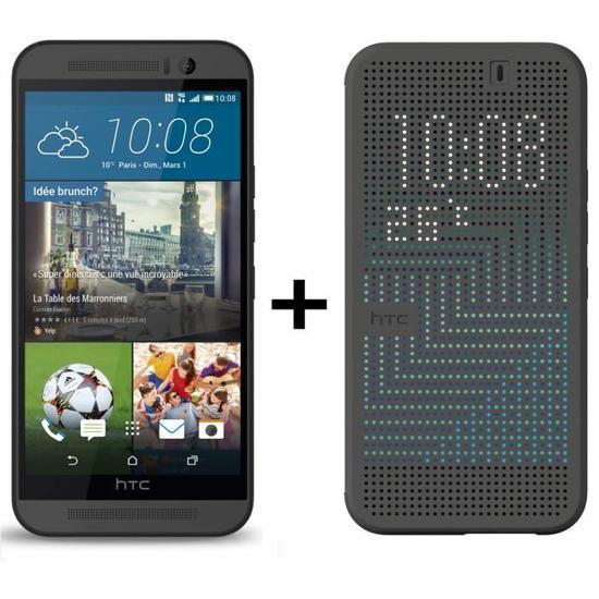 "Smartphone 5"" HTC One M9 Gris ou Argent  + Etui Folio officiel (ODR 50€)"