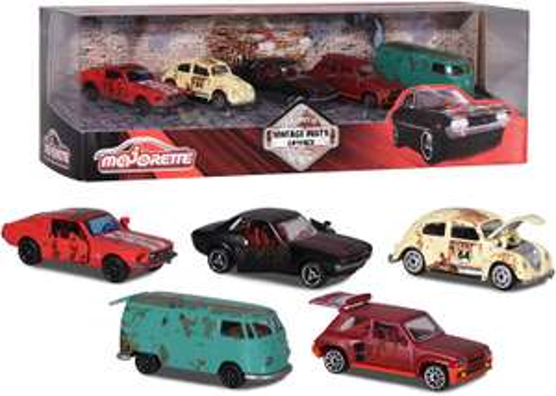 Coffret de 5 voitures miniatures en métal Majorette Vintage Giftpack Rusty 212052012