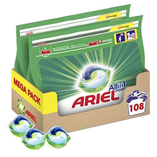 Lot de 2 paquets de 54 capsules Ariel Pods All-in-1 - 108 capsules, diverses variétés