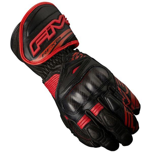 Gants de moto RFX2FIVE- Noir et Rouge