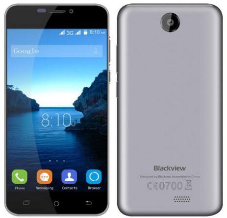 """Smartphone 5"""" Blackview BV2000S - 3G, HD IPS, MTK6580 Quad-Core 1.3GHz, RAM 1 Go, ROM 8 Go"""