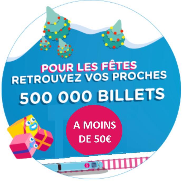 500 000 Billets de Train à moins de 50€ vers 41 destinations