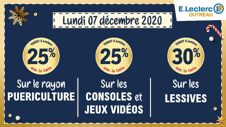 25% sur la carte sur les Consoles et Jeux Vidéo, 25% sur le rayon Puériculture & 30% sur les Lessives - Outreau (62)