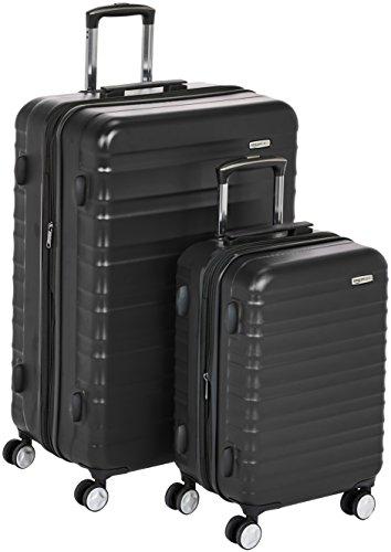 Lot de 2 valises à roulettes Amazon Basics - 55 & 78 cm, noir