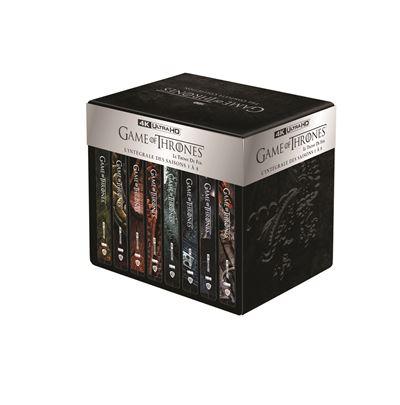 [Adhérents] Coffret Steelbook Blu Ray 4K Game of Thrones Saison 1 à 8 (+30€ sur le compte fidélité)