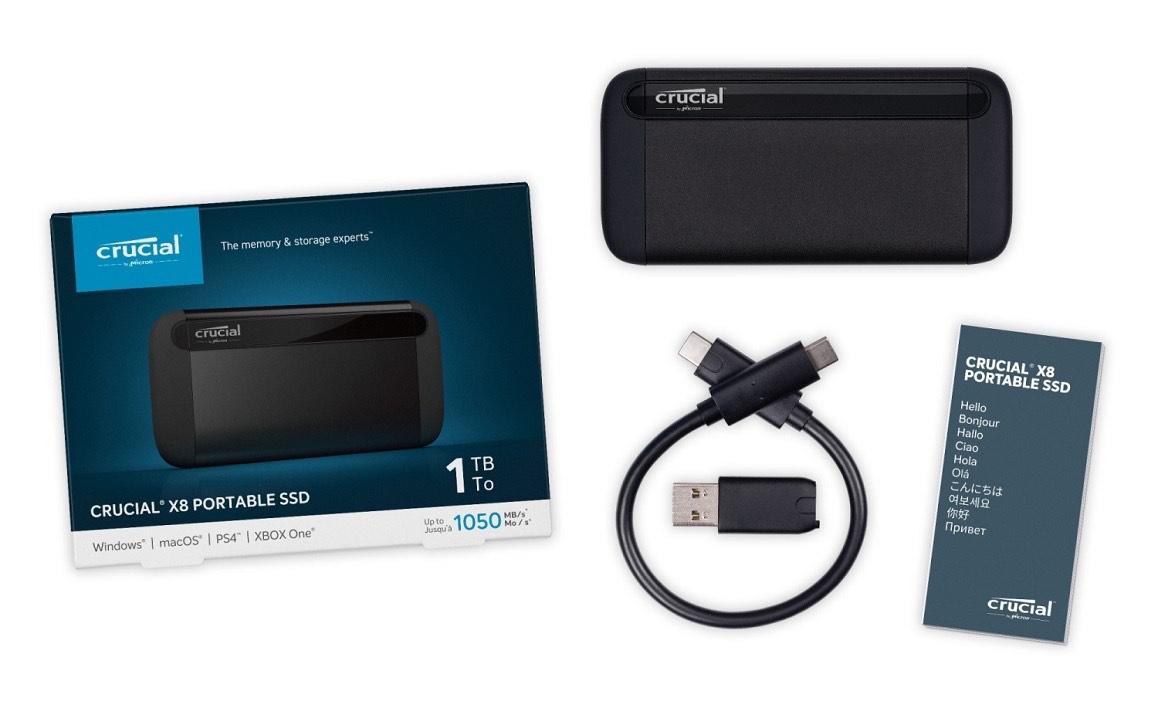 SSD Externe Crucial X8 - 500Go