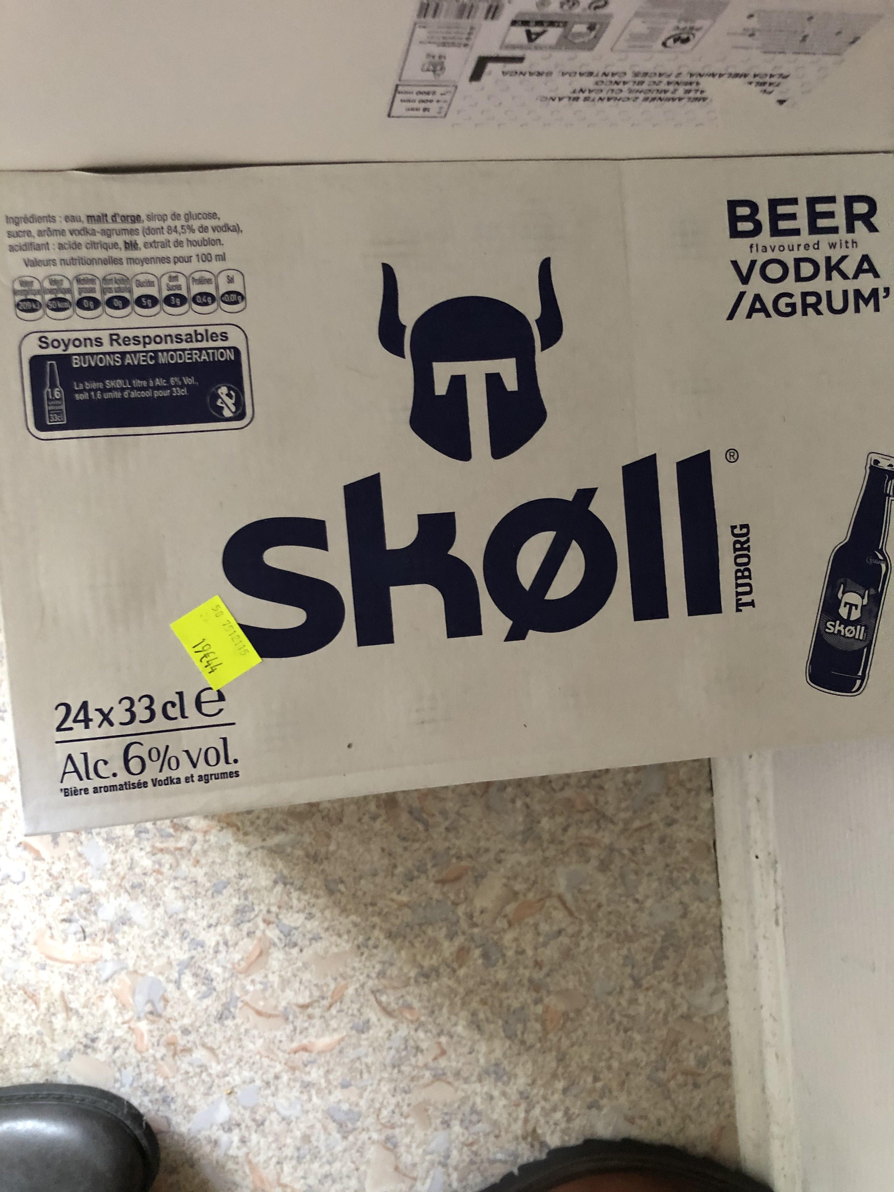 Pack de 24 bières Skøll (24x33 cl) - Freyming-Merlebach (57)