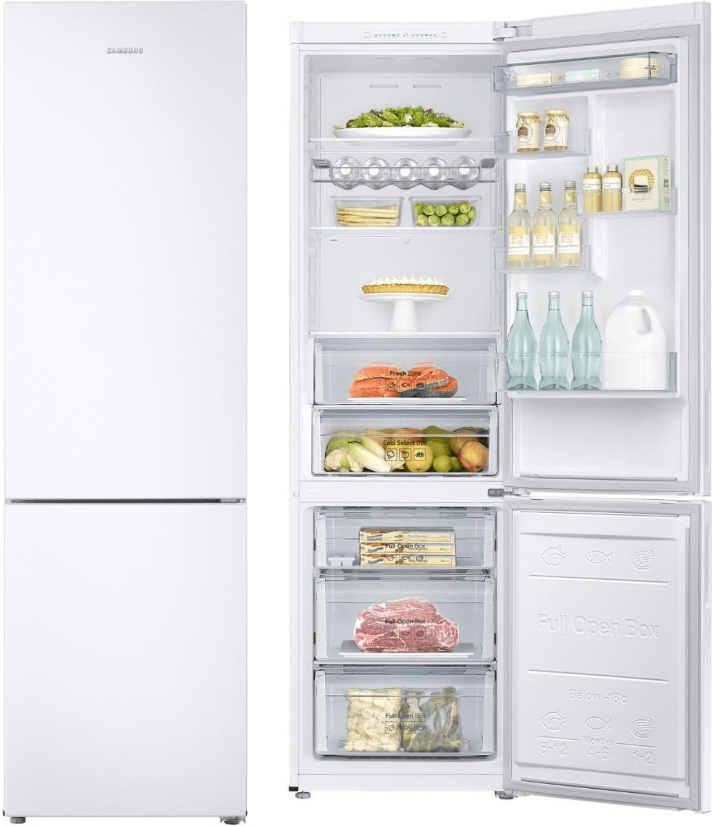 Réfrigérateur-congélateur Samsung RB37J501MWW - froid ventilé, 353 L (255+98), A+++