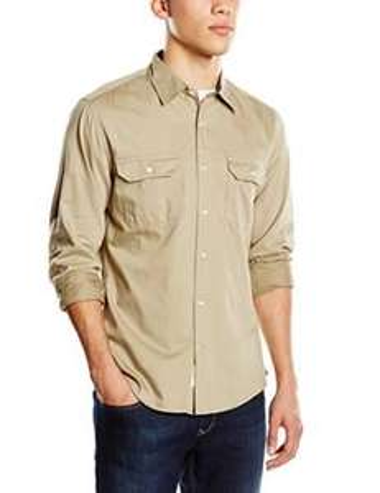 Chemise Dockers Khaki Twill pour Homme - Coupe droite, taille M