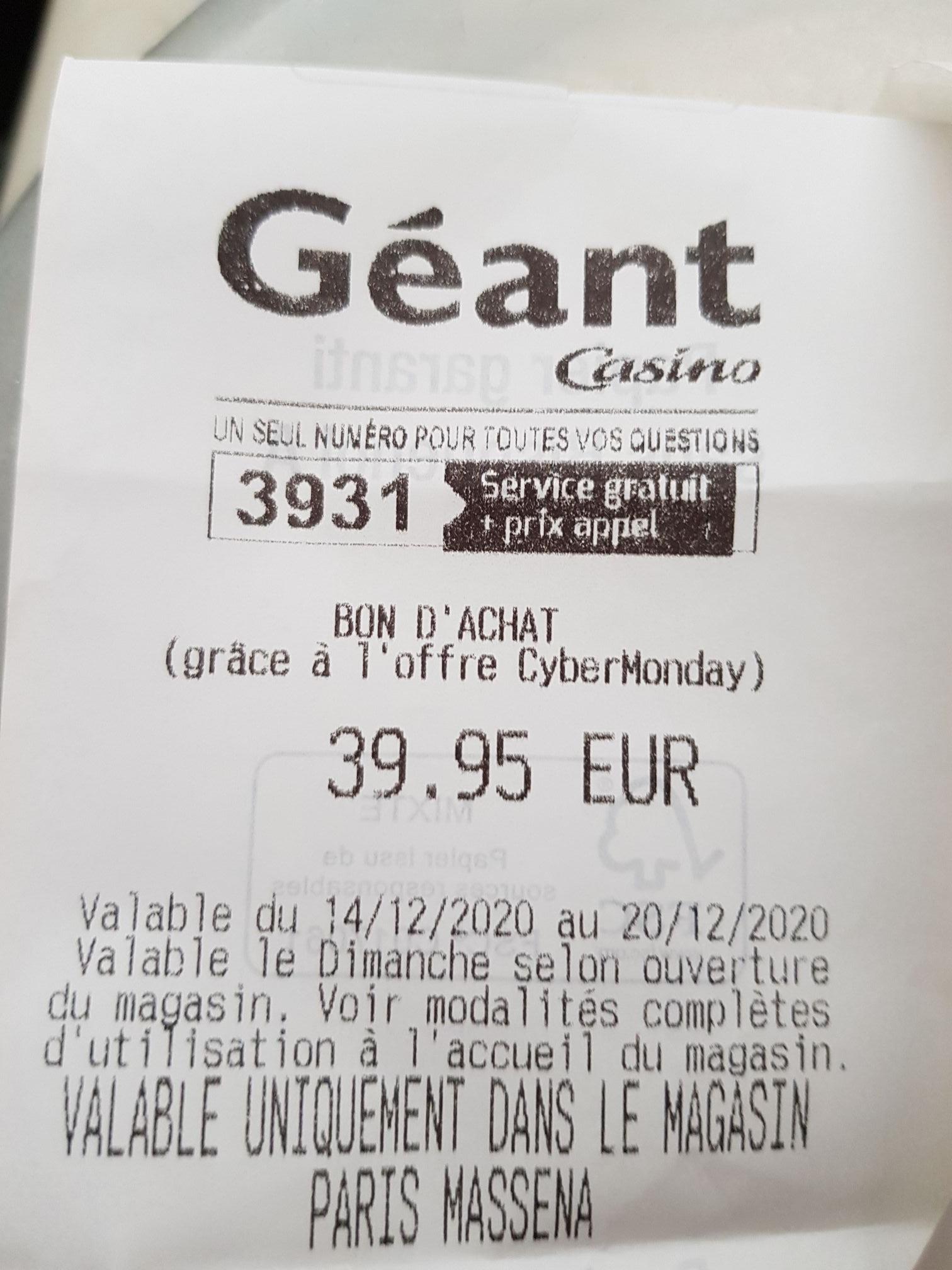 [Casino max ou Carte bancaire Casino] Enceinte JBL Flip essentiel (via 39.95€ en bon d'achat) - Paris (75)