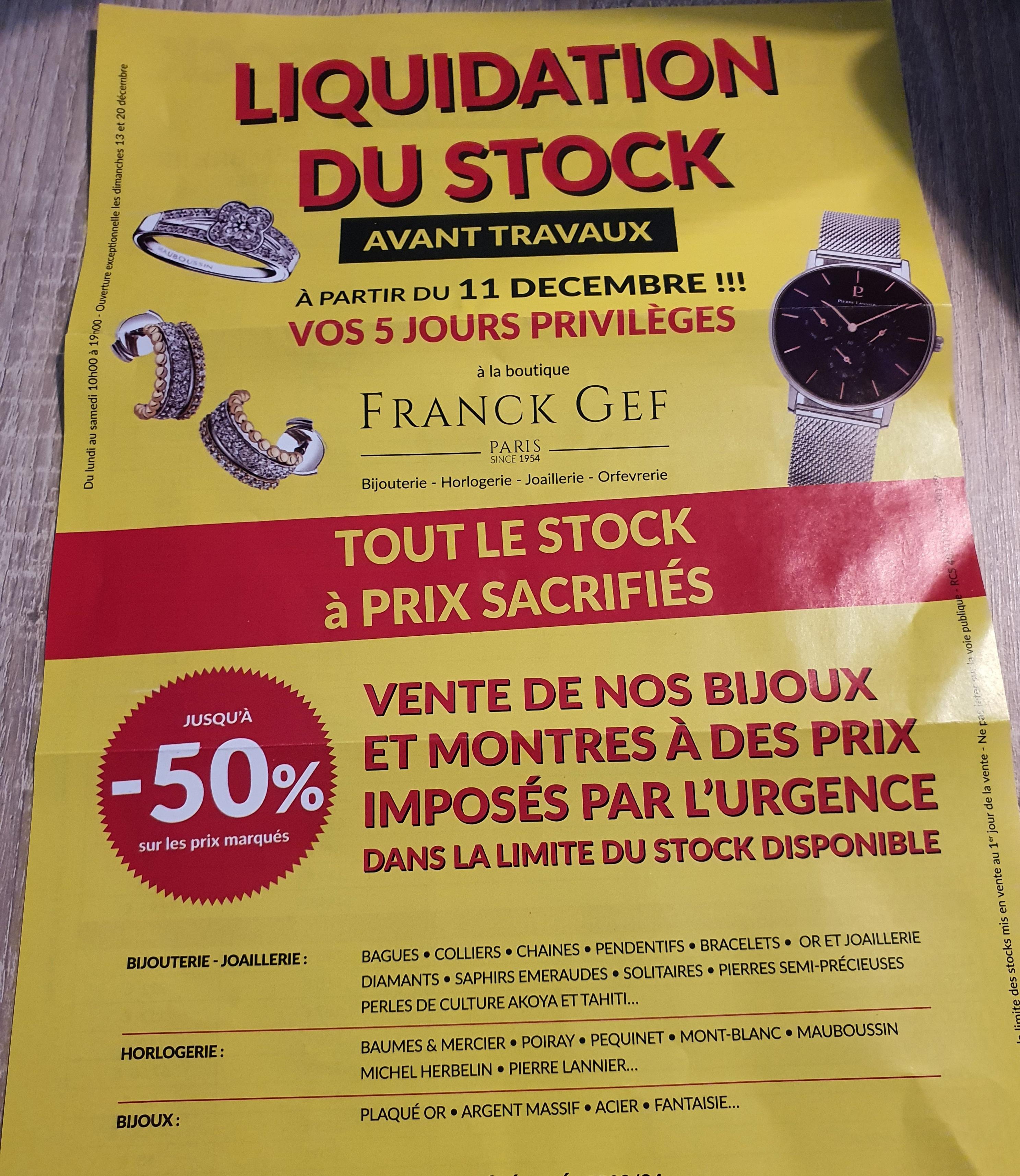 Sélection de bijoux en promotion - Ex: Boucle d'oreille Perle - Franck Gef Paris (75)