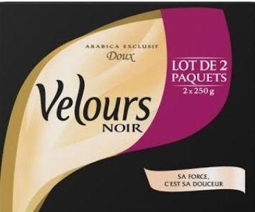 6 lots de 2 paquets de café Velours Noir (2x250g) - (Via 6.85€ sur la carte)