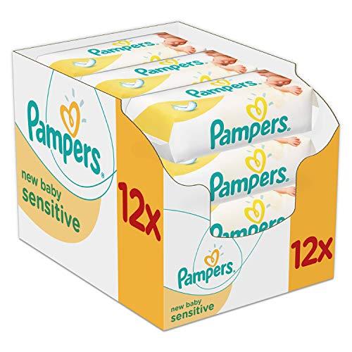 Lot de 12 paquets de 50 lingettes Pampers New Baby Sensitive - 12x50 lingettes