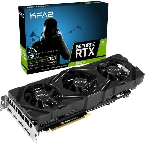 Carte graphique KFA2 GeForce RTX 2080 Ti EX 1-CLICK OC - 11 Go