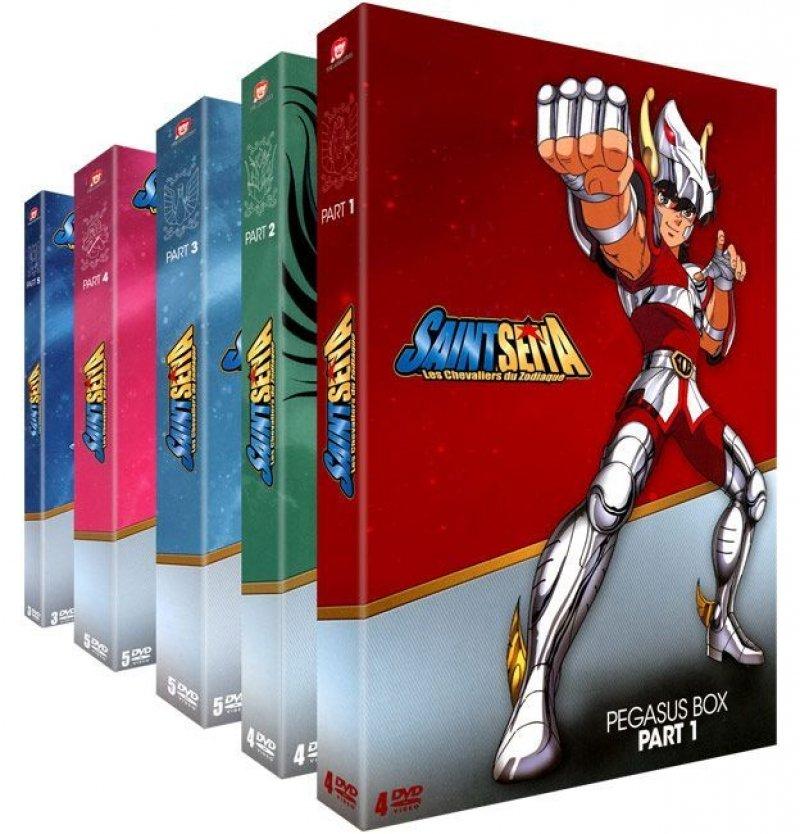 Pack de 5 coffrets DVD Saint Seiya - Les Chevaliers du Zodiaque