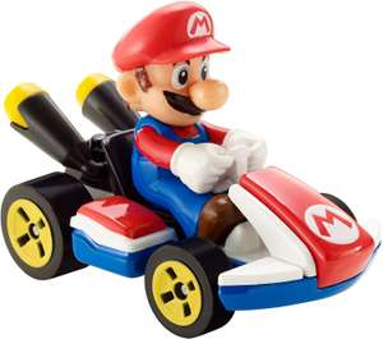 Jouet Mini-véhicule Hot Wheels Mario Kart Mario ou Luigi