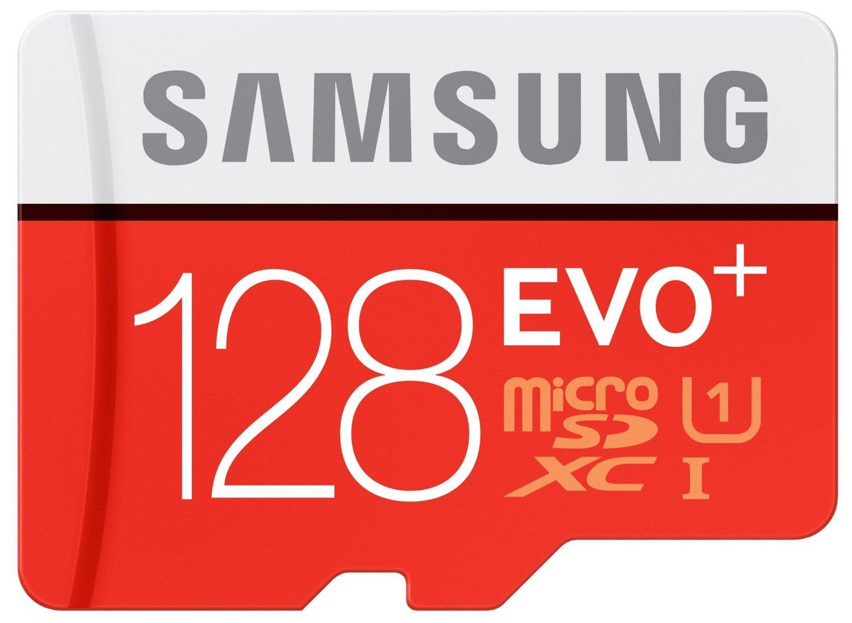 Carte microSDXC Samsung Evo+ Classe 10 - 128 Go + adaptateur