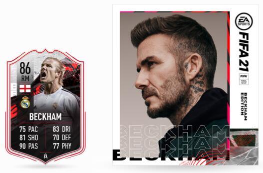 Item joueur David Beckham gratuit pour FIFA 21 FUT sur PC, PS4 / PS5 et Xbox One / Series S/X (dématérialisé)