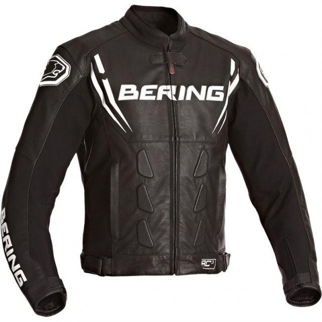 Blouson moto en cuir Bering Sting -R - Taille M (motoexpert.fr)