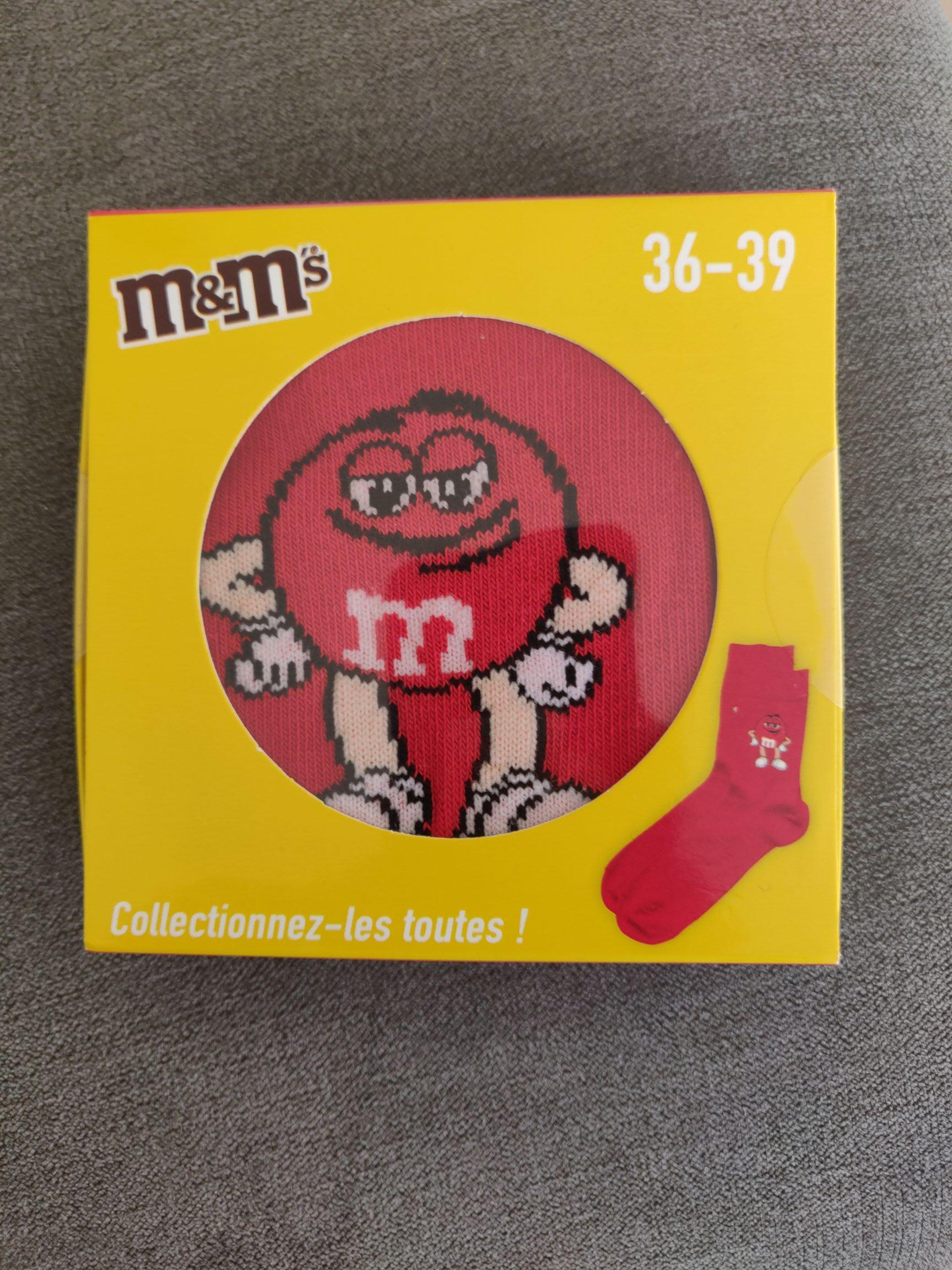 Une paire de chaussettes M&M's offerte pour l'achat de 2 produits M&M's (taille 43 max.) - Créteil (94)