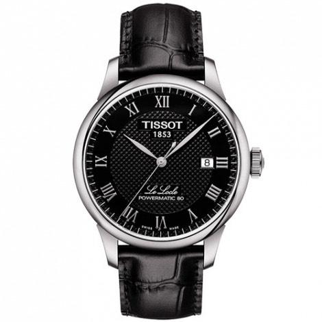 Montre automatique Tissot Le Locle Powermatic 80 T006.407.16.053.00 (bracelet en cuir, noir) - Subtil-Diamant.com