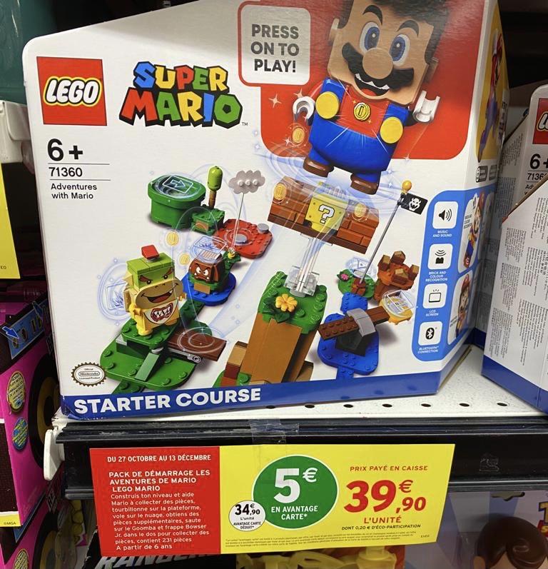 Pack de démarrage Lego Super Mario Les Aventures de Mario 71360 (via 5€ sur la carte de fidélité) - Marguerittes (30)