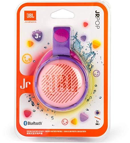 Enceinte bluetooth JBL JR Pop - Violet (ou rouge ou bleu ou rose), IPX7, Jeux de lumières