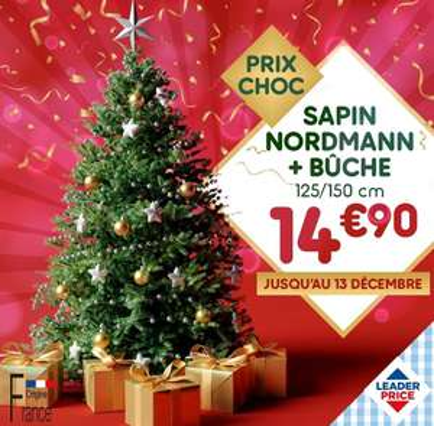 Sapin de Noël Nordmann + Buche