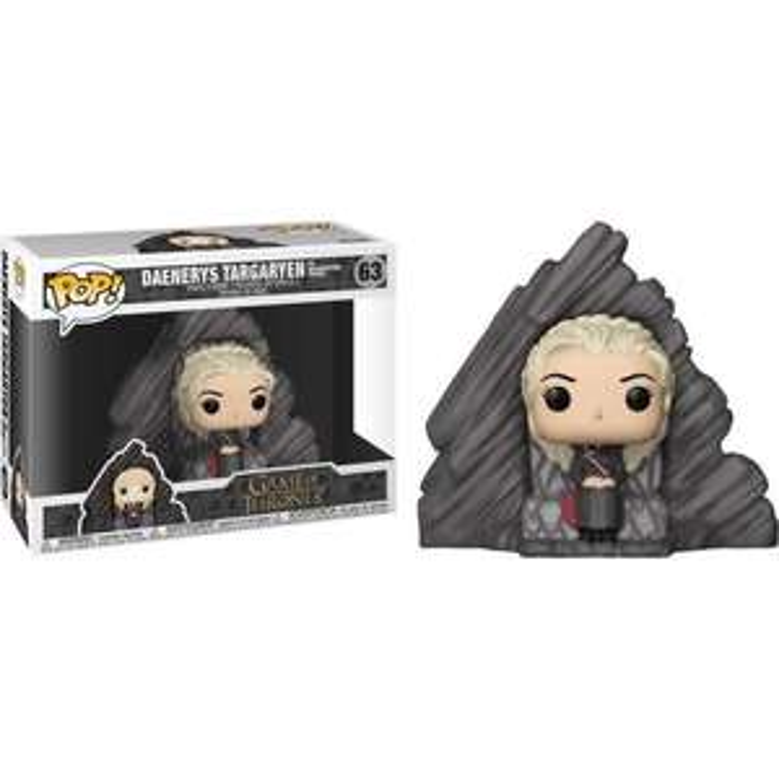 Figurine Funko Pop! N°63 Game of Thrones Série 8 - Daenerys Trône Dragonstone