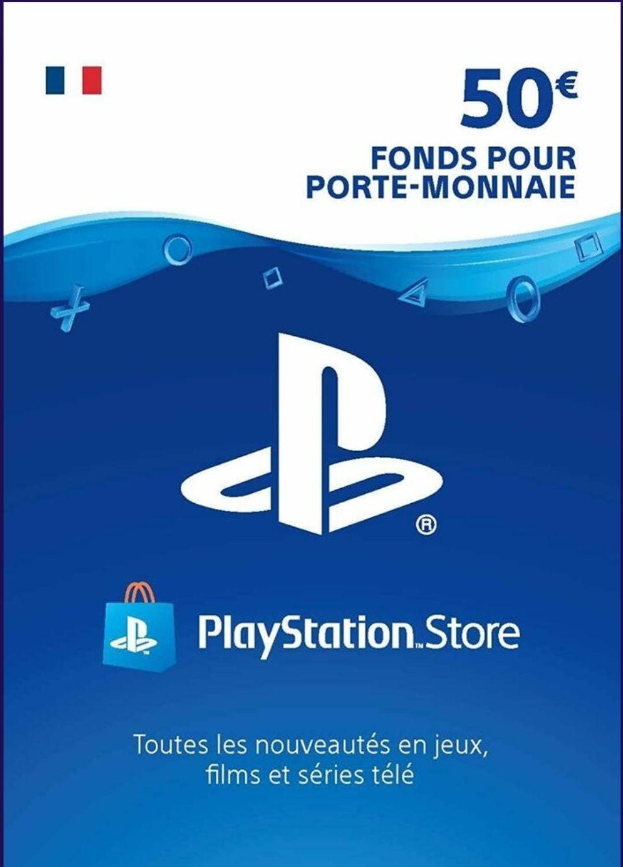 Carte PlayStation Store de 50€ (dématérialisée)