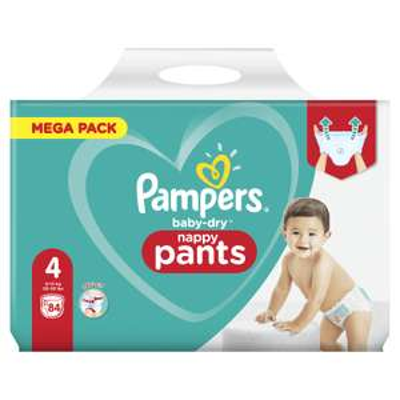 Paquet de 84 couches culottes Pampers Nappy pants (via 5€ BDR sur paquet) - Carrefour