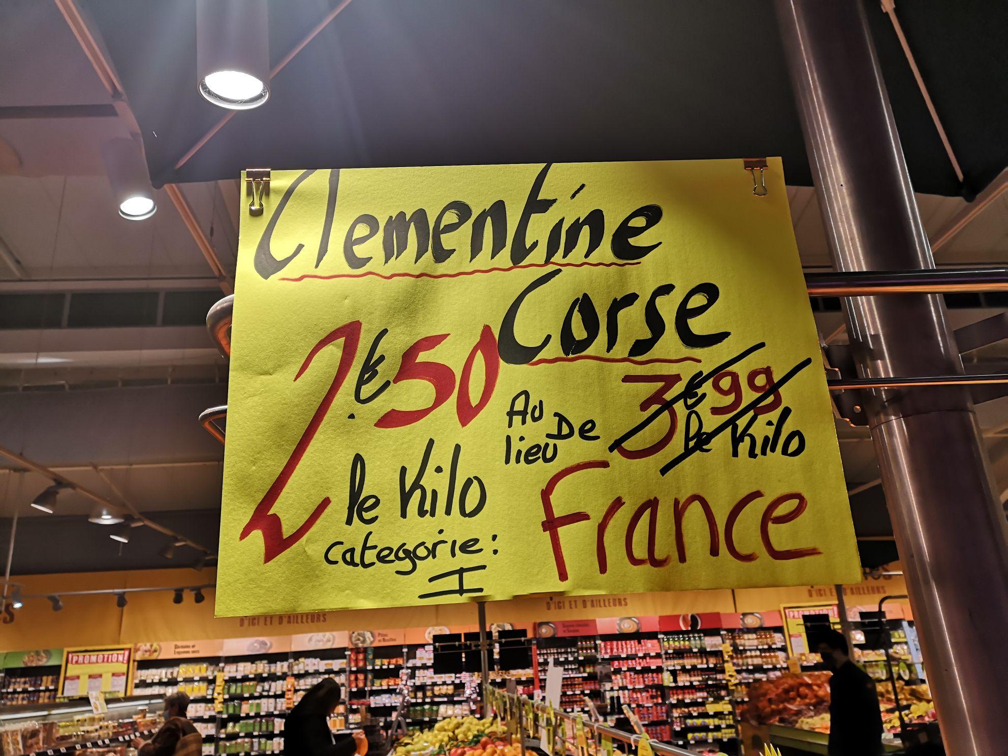 1 Kilo de Clémentine corse