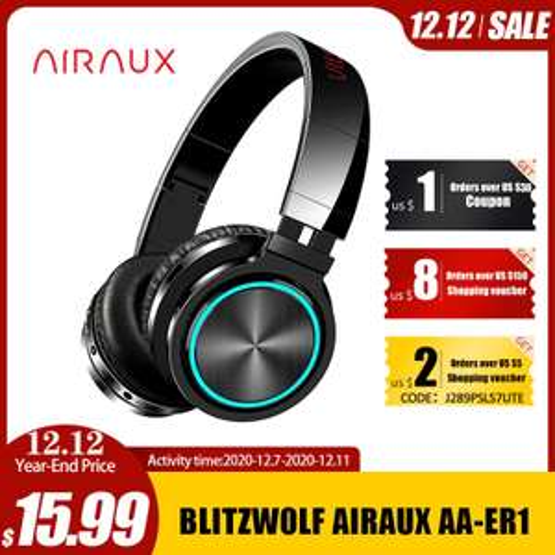 Casque sans fil Blitzwolf Airaux AA-ER1 - Bluetooth