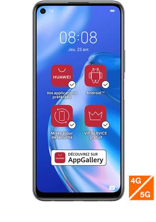 "Smartphone 6.4"" Huawei P40 Lite - 128 Go, 5G (Sans Services Google)"
