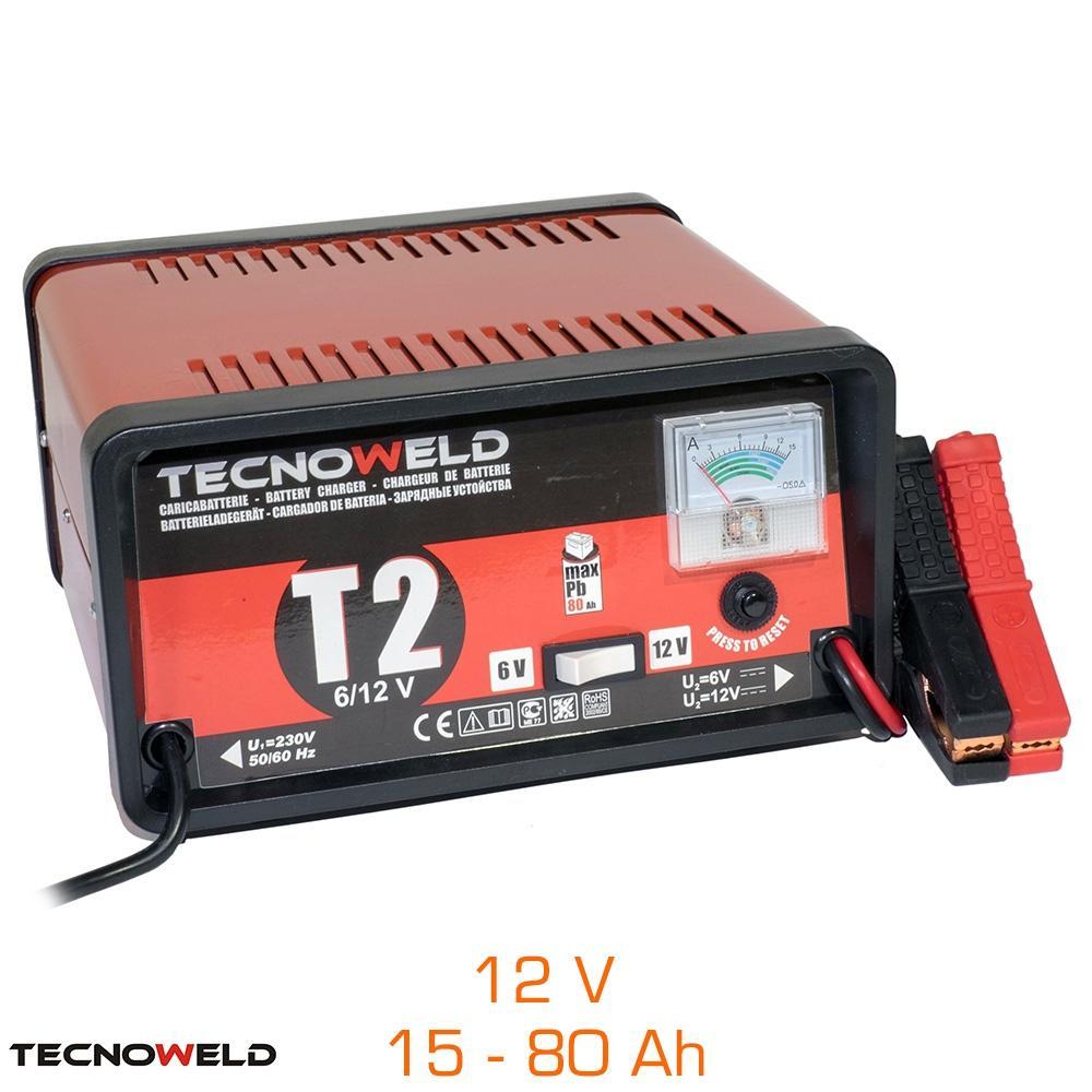 Chargeur de batterie T2 - 12V, 15 à 80 Ah