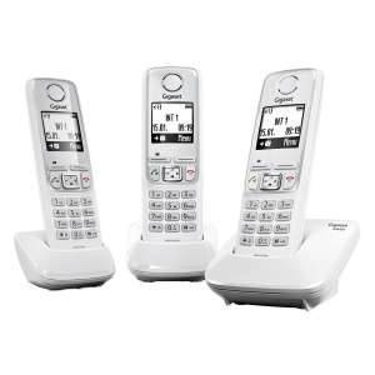 Lot de 3 Téléphones Sans fil DECT/GAP Gigaset A420 Trio - Blanc