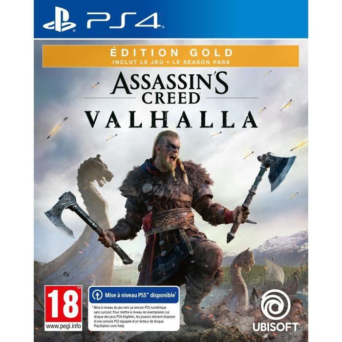 Jeu Assassins Creed Valhalla édition gold sur PS4 (avec mise à niveau PS5)