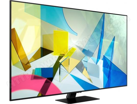 """TV 55"""" Samsung QE55Q80T 2020 - QLED, 4K, Dalle 100 Hz, HDR10+, Smart TV, HDMI 2.1 (via ODR 200€)"""