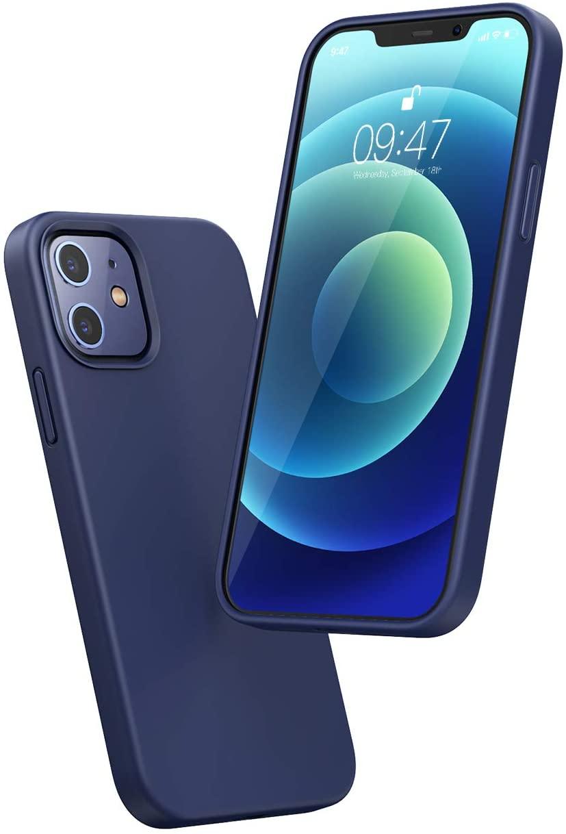 Coque en silicone Ugreen pour Smartphone Apple iPhone 12 & 12 Pro - Bleu (Vendeur tiers)