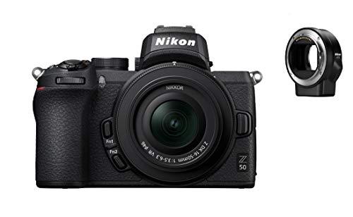 Appareil-photo Hybride Nikon Z50 + objectif Z DX 16-50mm f/3.5-6.3 VR + bague d'adaptation FTZ