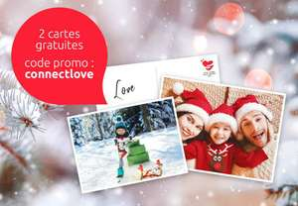 Envoi de 2 cartes postales personnalisées offert (Via l'Application bpost Mobile Postcard)