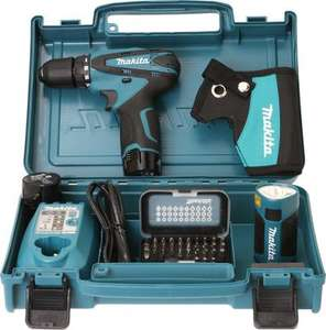 Perceuse visseuse Makita DF330DWLX1 - 10.8V, Li-Ion 1,3 Ah, Ø 10 mm