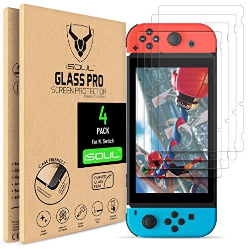 Pack de 4 Verre Trempé 9H HD iSoul pour Nintendo Switch (Vendeur tiers)
