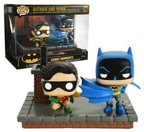 Figurine Pop Batman and Robin Comic Moments Batman 80th