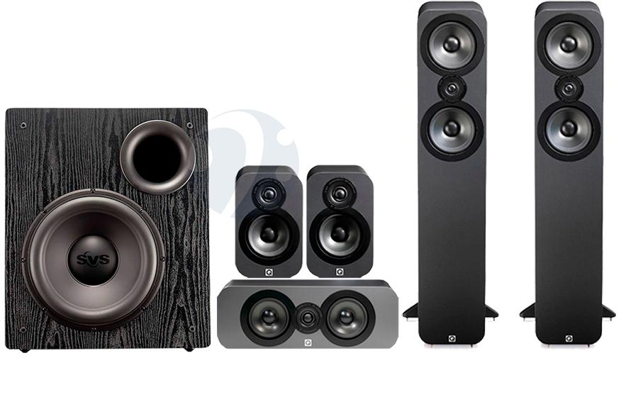 Pack Enceintes Home-cinéma 5.1 Q Acoustics QA3050 Cinema Pack + Caisson de basses subwoofer PB12 NSD