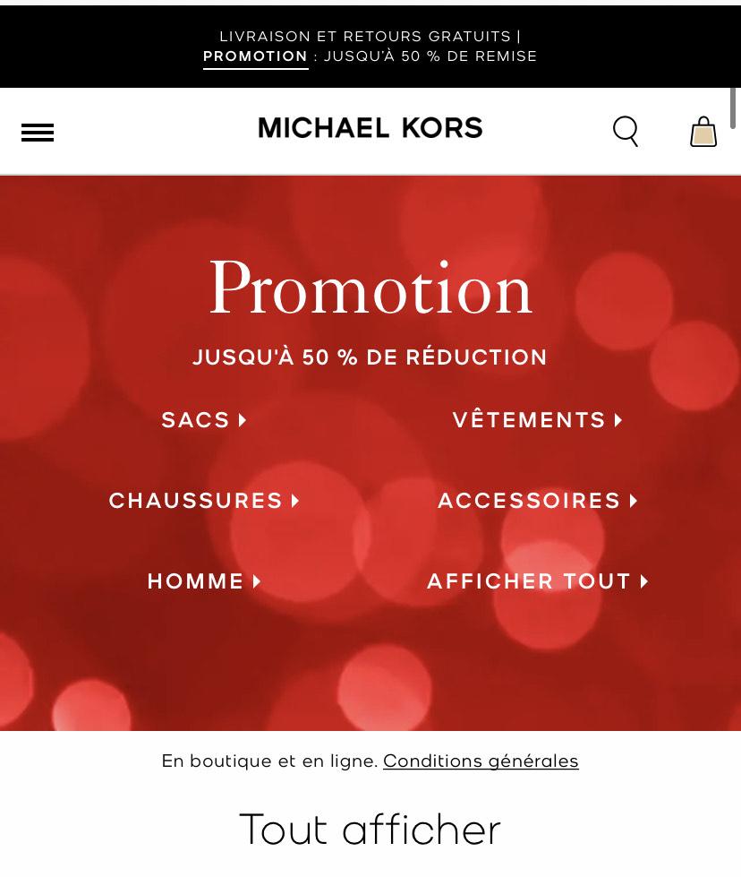 Sélection de produits en promotion sacs vêtements chaussures
