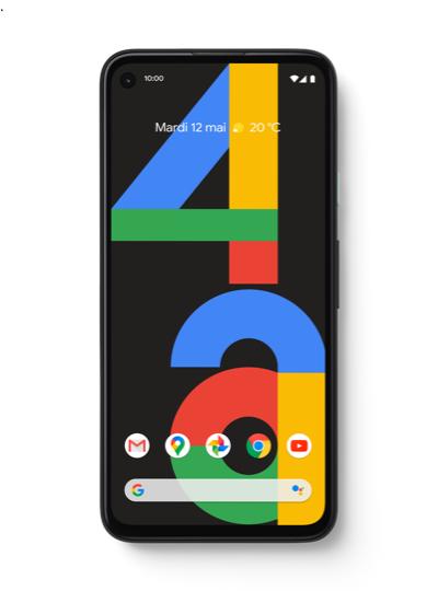 """[Clients] Smartphone 5,81"""" Google Pixel 4A (4G) - 128 Go, Noir (Via Remise sur facture de 50€)"""