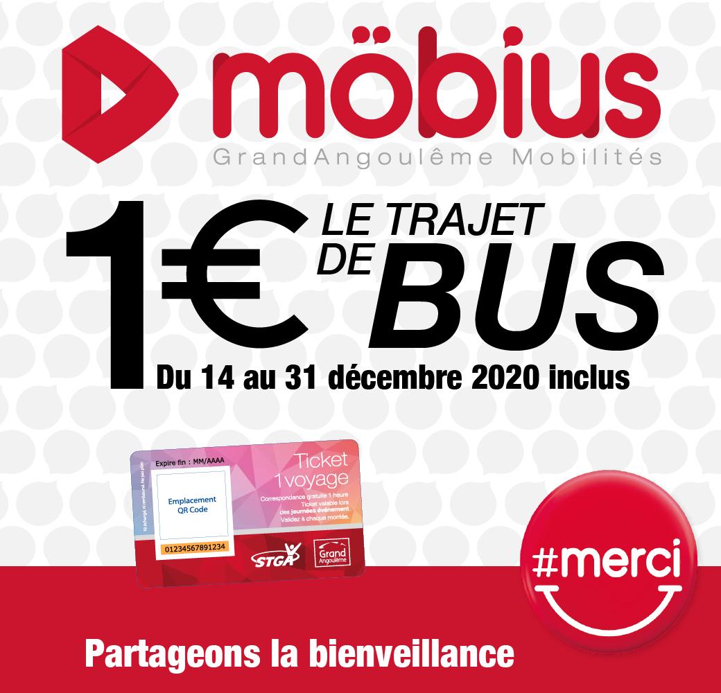 Ticket unitaire à bord des bus - Angoulême (16)