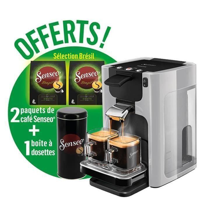 Machine à café Philips Senseo Quadrante HD7866/11 + Boîte à dosettes + Pince + 2 Paquets Sélection Brésil (Via ODR 8€ + Bon d'achat de 8€)