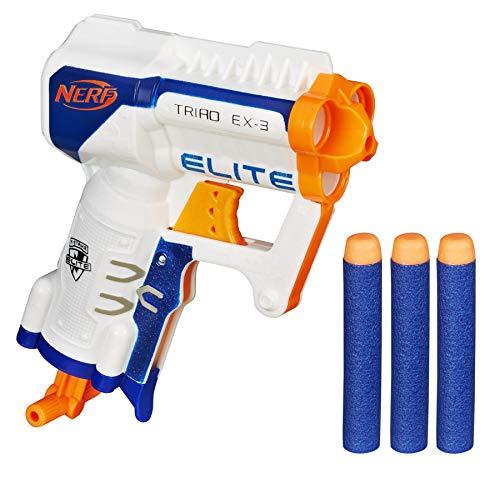 Pistolet Nerf Elite Triad EX3 + 3 Fléchettes